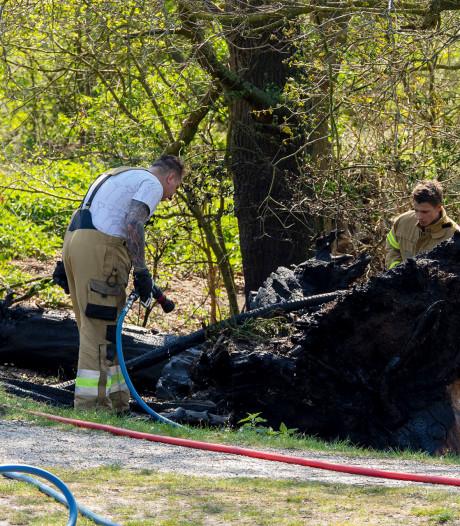 Brandweer voorkomt erger bij natuurbrandje in Oss: boomstronk gaat in vlammen op