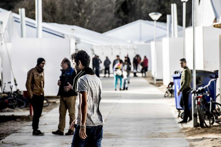 Bijna drieduizend asielzoekers verbleven in 2015 en 2016 in tentenkamp Heumensoord, een noodopvanglocatie bij Nijmegen. Beeld ANP