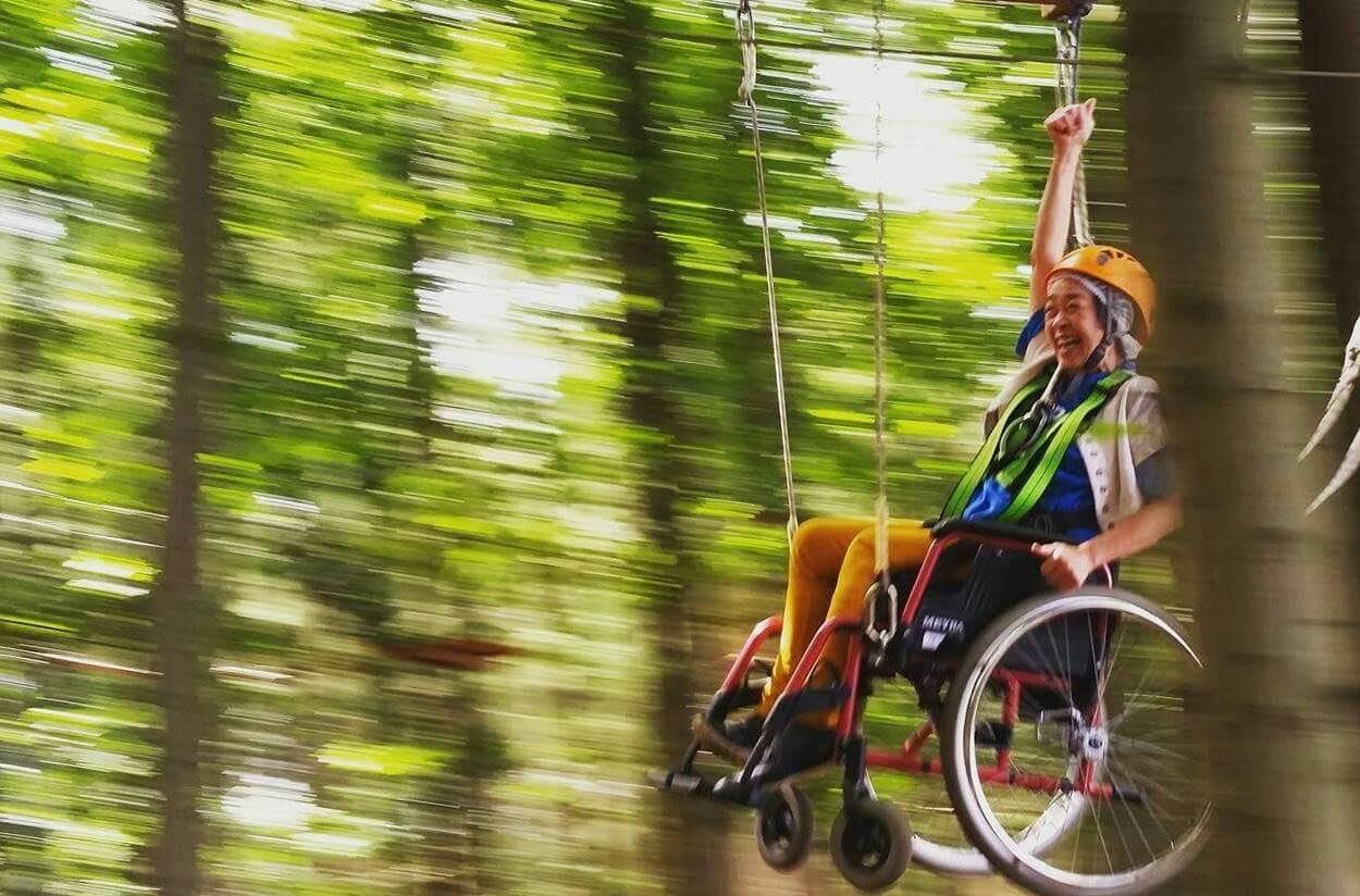 In het klimbos is al een route uitgezet voor rolstoelers.
