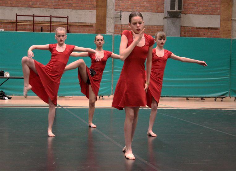 De dansers gaven het beste van zichzelf.