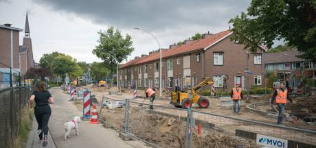 Van Uvenweg in Wageningen verandert langzaam in een fietsstraat