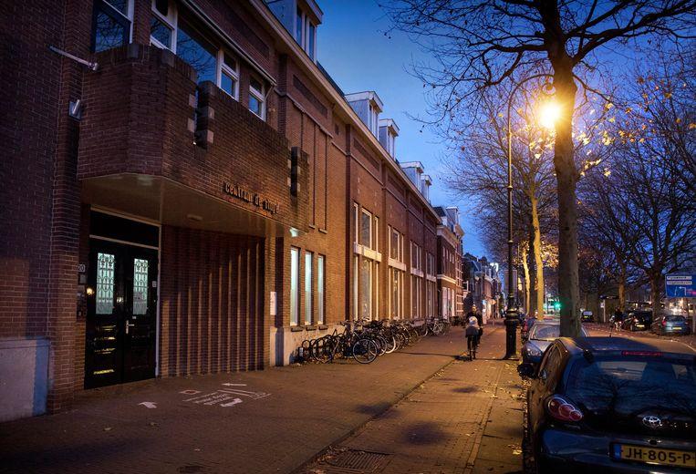 De vestiging van de School voor Persoonlijk Onderwijs in Utrecht. Hier krijgen leerlingen, in klassen van zestien, vier dagen per week les. Beeld Werry Crone