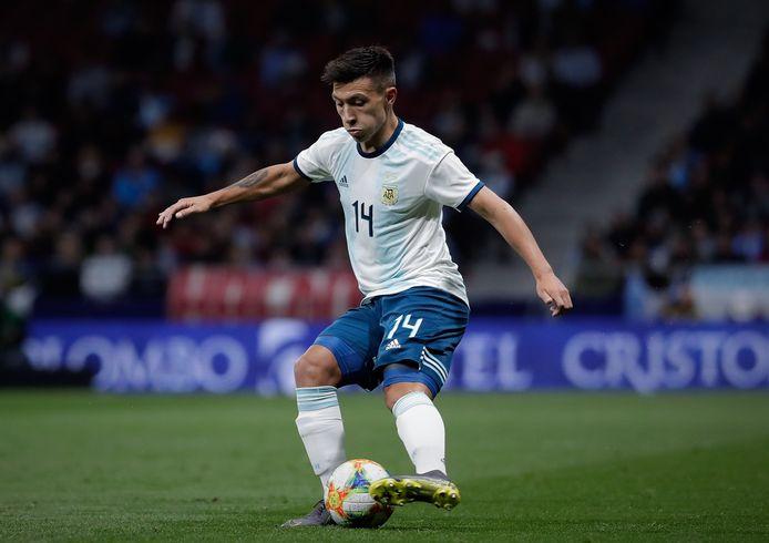 Lisandro Martínez tijdens zijn voorlopig enige interland voor Argentinië, tegen Venezuela.