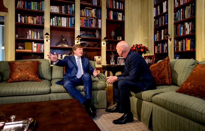 Koning Willem-Alexander wordt geïnterviewd door Wilfried de Jong op de Eikenhorst ter gelegenheid van zijn 50ste verjaardag.