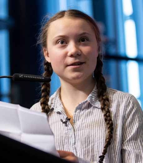 Zweeds klimaatboegbeeld Greta (16) spreekt politici toe