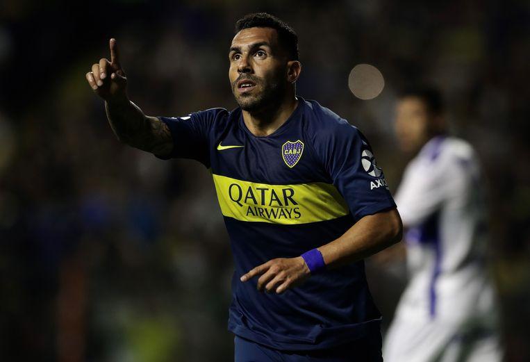 Carlos Tevez, een jaartje ouder, maar nog altijd een god voor de Boca-aanhang. Zijn neus voor goals is 'Carlitos' nog niet verloren.