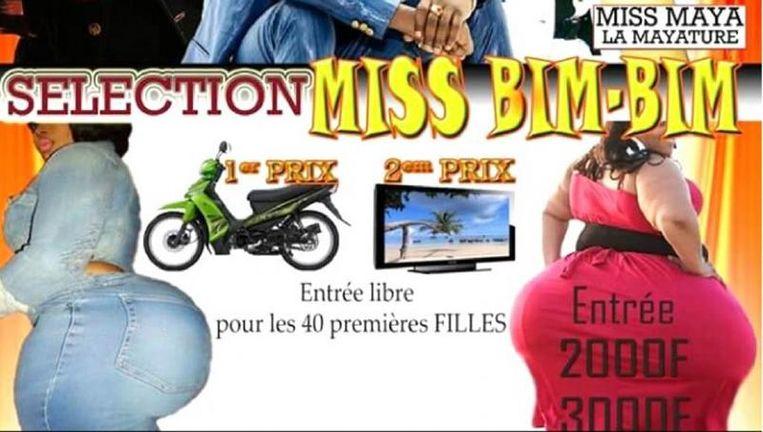 Deze affiche was aanleiding tot het verbod op de verkiezing van Miss Bim-Bim in Burkina Faso.