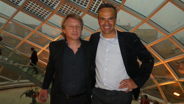 Initiators Willem Sijthoff en Maarten Feilzer. Sijthoff: 'Over honderd jaar moeten Amsterdammers langsfietsen en denken: goed dat dit is neergezet.' Beeld Hans van der Beek