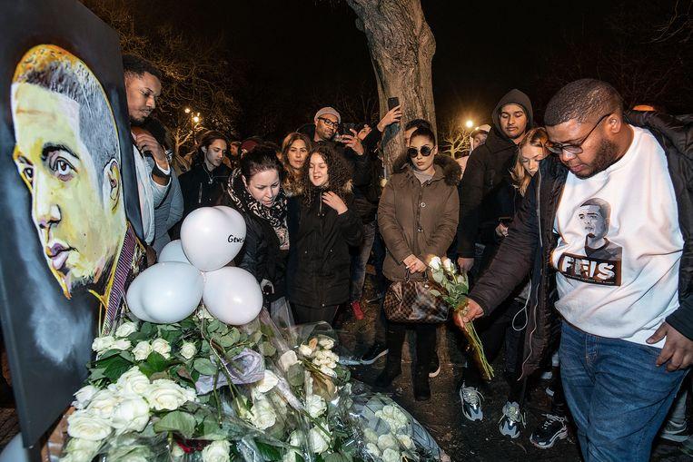 De rapper werd neergeschoten, omdat zijn broer vroeg of iemand voor hem aan de kant kon gaan. Beeld Guus Dubbelman