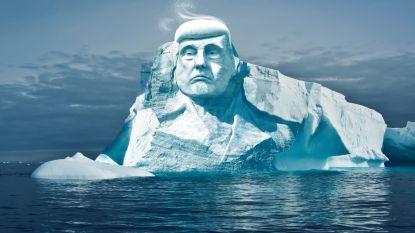 Finnen willen hoofd van Trump op smeltende ijsberg
