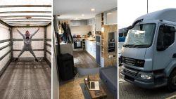 Martin (38) en Iona (27) toverden oude vrachtwagen om tot droomstek en trekken nu dwars door Europa
