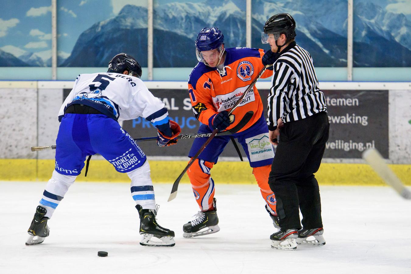 Yeti's Breda speelt in het blauw/wit.
