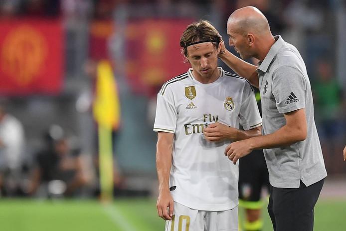 Zinedine Zidane en Luka Modric.