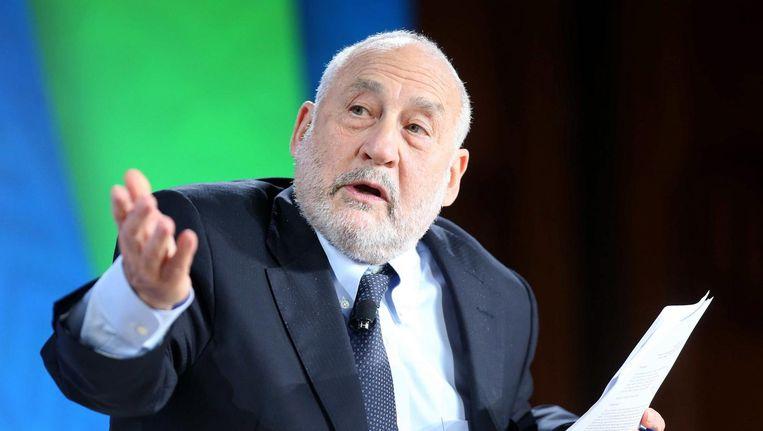 Joseph Stiglitz tijdens de jaarlijkse bijeenkomst van de Wereldbank en het Internationaal Monetair Fonds op 9 oktober 2015. Beeld null