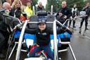 Archiefbeeld: Rico-Jay mocht ook even op de motor zitten.