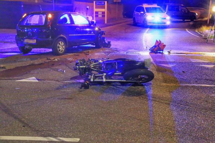 De motorrijder raakte zwaargewond