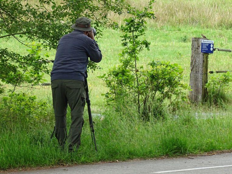 Fotograaf nabij de Drentse draaihals. Beeld Rob Bijlsma