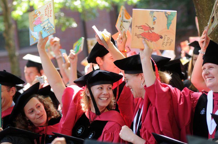 Studenten van Harvard. Beeld afp