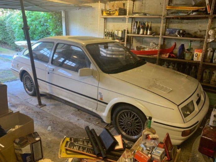 Hier stond de Ford Sierra 28 jaar stof te vergaren