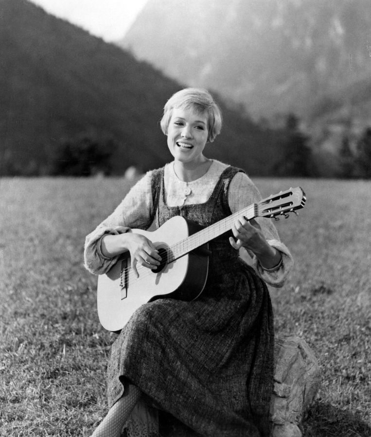 Julie Andrews in The sound of music Beeld null