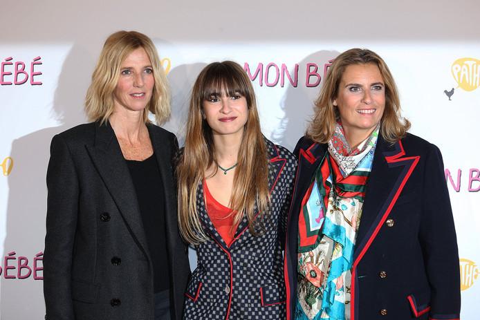 """Sandrine Kiberlain, Thais Alessandrin et Lisa Azuelos, à l'avant-première de """"Mon bébé"""", le film de la réalisatrice, en mars 2019."""
