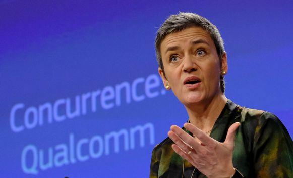Margrethe Vestager, de Deense Europees Commissaris voor Mededinging.