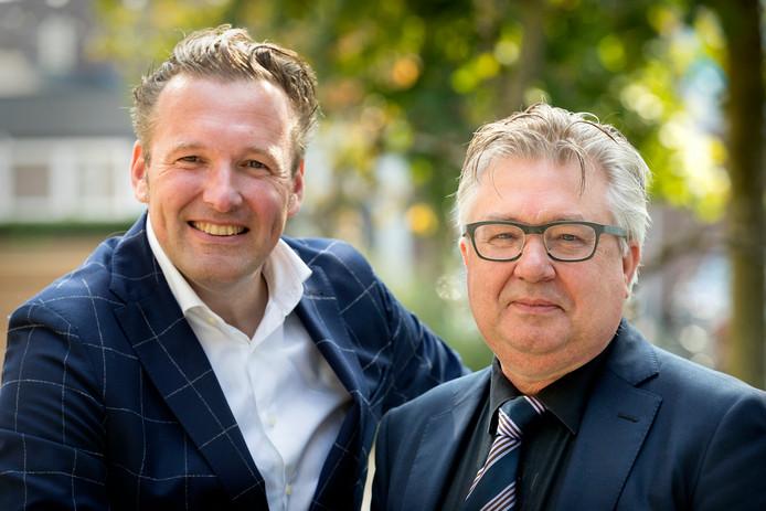 Rodney Weterings (links) en Pieter Tops
