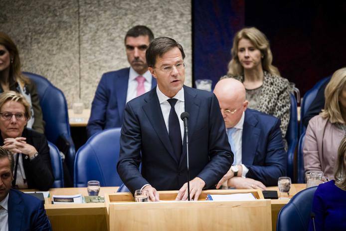 Premier Rutte las vanochtend voor de derde keer in zijn politieke carrière een regeringsverklaring voor.