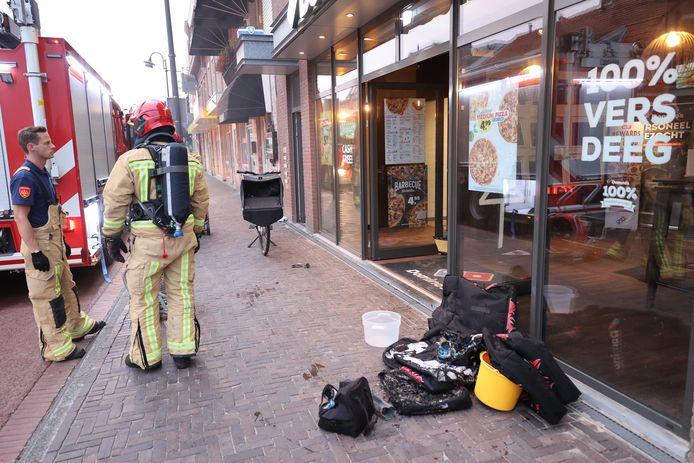 Brand bij Domino's in Eindhoven