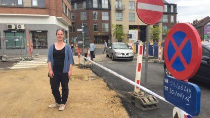 """""""Onveilige situatie voor voetgangers aan werken Gemeenteplein"""""""