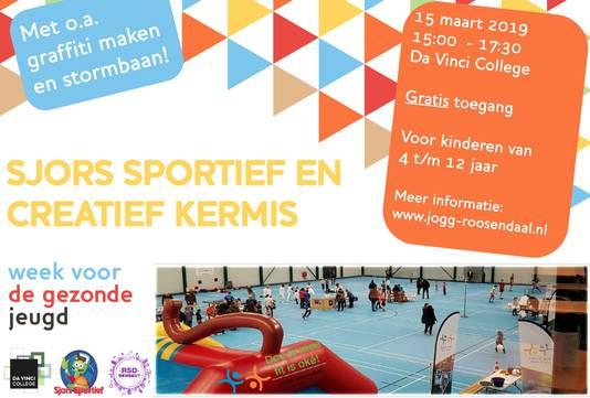 Sjors Sportie en Creatief Kermis tijdens Roosendaalse Week voor de Gezonde Jeugd