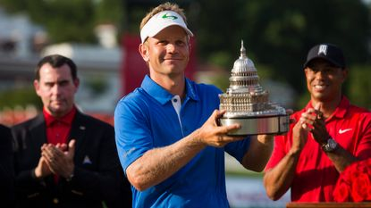 Billy Hurley viert eerste PGA-titel in Bethesda