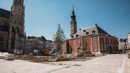"""Einde van werken Groenmarkt in zicht: """"Glasheldere fonteinen moeten binnenstad opnieuw doen stralen"""""""