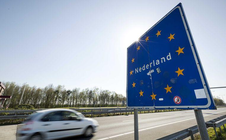Een grensovergang naar Nederland. Archiefbeeld.