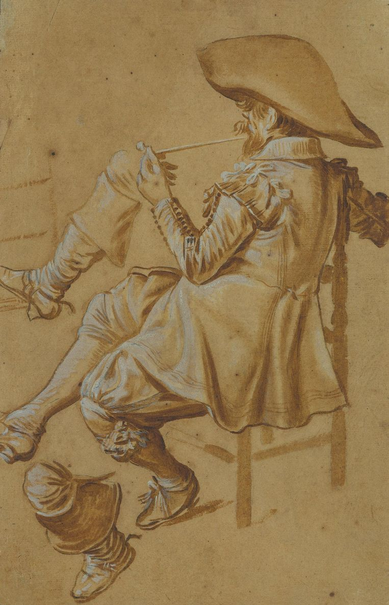 Dirck Hals (1591-1656). Zittend pijproker, 1622-1627 Beeld Rijksmuseum Amsterdam