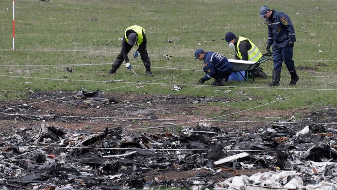 De rampplek van de MH17 wordt onderzocht