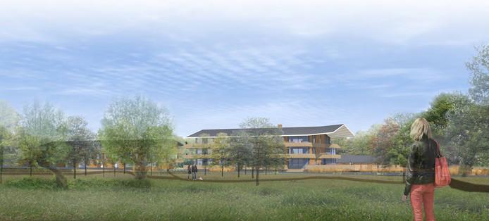 In een eerder ontwerp voor het landgoed aan de Westkanaalweg was nog sprake van 21 woningen. In het jongste plan zijn het er nog maar vier. De aanleg van het landgoed begint waarschijnlijk volgend jaar.