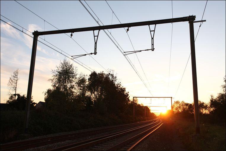 Het spoor bij Luttre. Archieffoto.