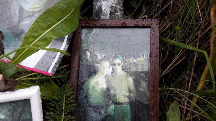 Een foto waarop het slachtoffer staat