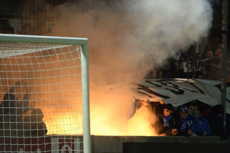 Ook in Lierse hielden de Genkse fans zich niet gedeisd
