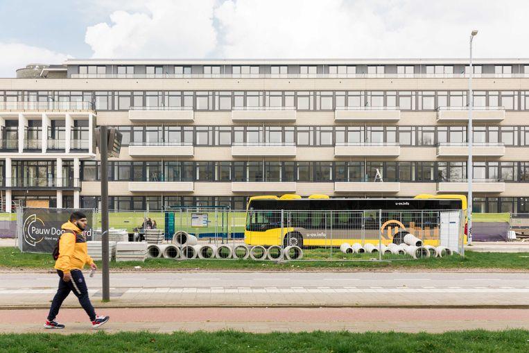 De nieuwe huurwoningen in Utrecht die tussen de 805 en 1.170 euro per maand moeten gaan kosten. Beeld Rebecca Fertinel