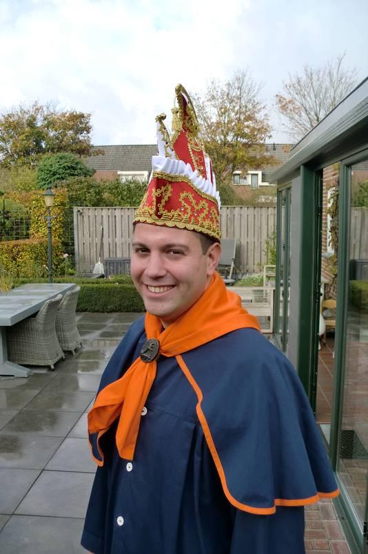 Mark Stuij is vanaf 11-11-17 Prins Markus I van Tullepetaonestad Roosendaal