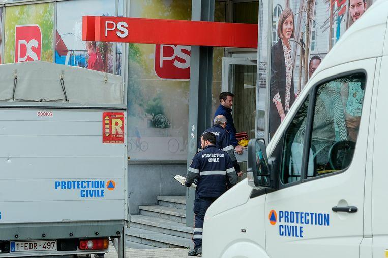 Gisteren kwam een poederbrief aan bij de PS-hoofdzetel in Brussel.