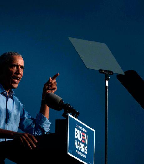 Oud-president Obama vernietigend over Trump: Twitteren en televisie kijken lossen problemen niet op