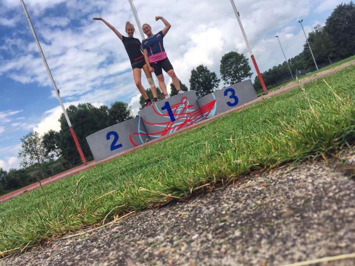 Ik presenteer u; de beste twee deelnemers van de 3000 meter! 😉