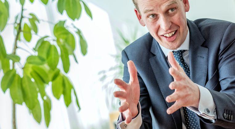 Frank Elderson, toezichtdirecteur van De Nederlandsche Bank. Hij is verantwoordelijk voor het toezicht op banken, voor het toezicht horizontale functies en integriteit en voor juridische zaken. Elderson is lid van de Supervisory Board van de Europese Centrale Bank.  Beeld Patrick Post