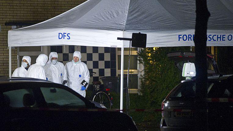 Forensisch deskundigen doen onderzoek bij het lichaam van Luana Luz Xavier, die vorige week werd doodgeschoten in Amstelveen Beeld anp