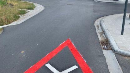 Extra wegmarkering maakt twee kruispunten veiliger