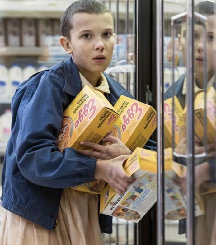 Eleven et ses gaufres surgelées.