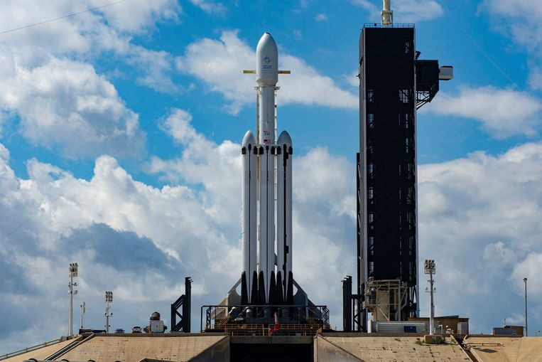 De Falcon Heavy van de Amerikaanse raketbouwer SpaceX.